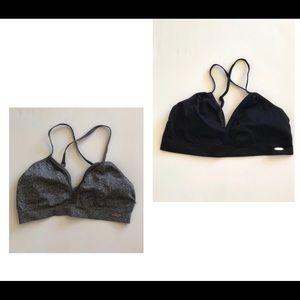 XOXO Black And white cross straped bra size s